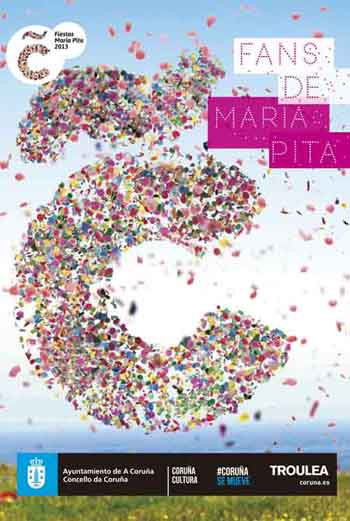 Cartel fiestas MAría Pita 2013
