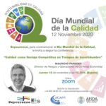 Webinar sobre Día Mundial da Calidade