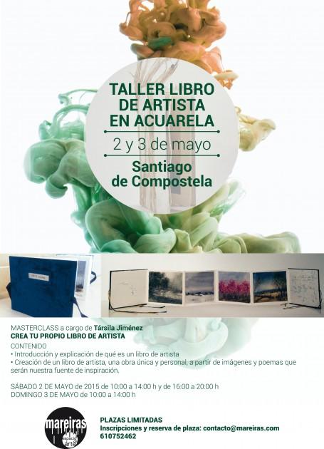 Cartel taller libro artista