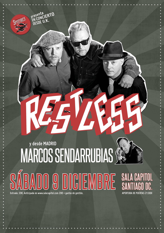 Concierto Restless + Marcos Sendarrubias en Santiago de Compostela ...